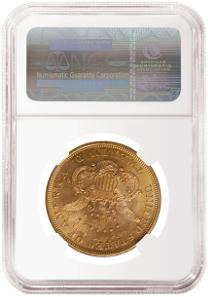 1867 double eagle NGC MS 66.