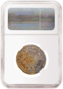 1793 Sheldon-13 Liberty Cap Cent graded NGC AU 53 BN.