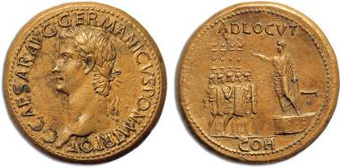 Caligula sestertius: Bank Leu AG 36, Zürich 1985, lot 235 & Bank Leu AG 10, Zürich 1974, lot 48. Estimate: 200,000 CHF.
