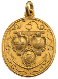 Lot 366: The Naval Reward for Captains, gold medal, 1653, by Thomas Simon, the so-called Blake Medal. A superb gold medal, extremely fine and excessively rare. Estimate: £30,000 - 40,000.