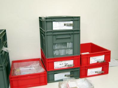 Private Funde, die Frau Klages zur Bearbeitung anvertraut wurden. Foto: KW.