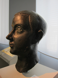 Bronze portrait of Gordian III. Photo: KW.