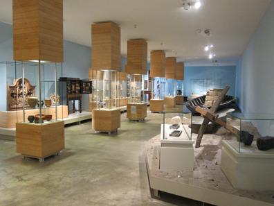 Blick in den Museumssaal, der der Wirtschaft im Rheinland gewidmet ist. Foto: KW.