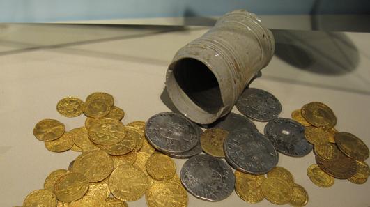 Münzfund von Kestenich aus dem 17. Jahrhundert. Foto: KW.