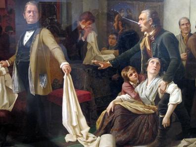 Die Schlesischen Weber. Gemälde von Carl Wilhelm Hübner aus dem Jahr 1844. Foto: KW.