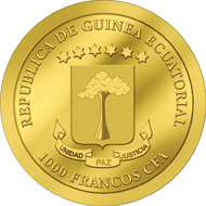 Republik Äquatorialguinea / 1000 Francs CFA / 9999 Gold / 0,5 g / 11 mm / Auflage: 1.500.