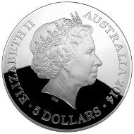 Australia/ 5 AUD/ 1 oz Silver/ 39.62 mm/ Mintage: 10,000.