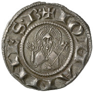 Florence, Republic (1189-1532). Fiorino d'argento, before 1260. Bust of Saint John the Baptist. Rv. Lily. © MoneyMuseum, Zurich.