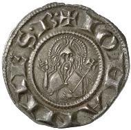 Florenz, Republik (1189-1532). Fiorino d'argento, vor 1260. Büste des heiligen Johannes des Täufers. Rs. Lilie. © MoneyMuseum, Zürich.