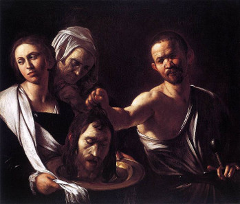 Michelangelo Caravaggio, Salome mit dem Kopf Johannes des Täufers, 1607. Quelle: Wikicommons.