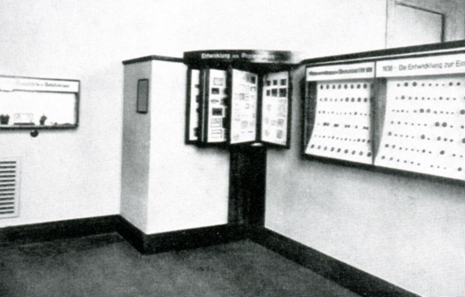View inside the exhibition of the Münzkabinett at the Bode-Museum, 1956. From B. Kluge, Das Münzkabinett, 2nd ed., Berlin 2005, p. 38.