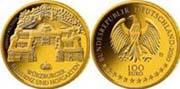 Deutschland; 100 Euro; Gold 999,9/1000; 15,55 g, 28 mm; Rand geriffelt; Auflage: 320.000 (64.000 je Münzstätte) in Stgl.; Designer: Dietrich Dorfstecher; Münzstätten: Berlin (A), München (D), Stuttgart (F), Karlsruhe (G), Hamburg (J).