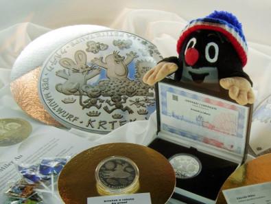 Der kleine Maulwurf erhielt numismatische Ehre. Foto: Angela und Reiner Graff.