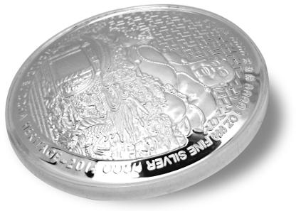 Convex Silver coin.
