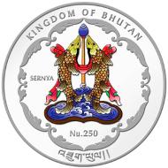 Bhutan / 250 BTN / 1 oz 999 Silver / 40.7 mm / Mintage: 10,000.