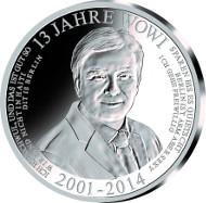 2014 / .333 Silber / 32,5 mm / Design: Stefanie Lindner, Münze Berlin / Auflage: 2014.