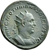 Nr. 2682: TRAIANUS DECIUS, 249-251. Doppelsesterz. Rv. Stehende Felicitas. RIC115a. Vorzüglich. Taxe: 4000,- Euro.