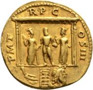 Nr. 2558: HADRIAN, 117-138. Aureus. RIC 60var. Gutes vorzüglich. Taxe: 20.000,- Euro.