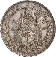 3737. Würzburg-Bistum. Julius Echter von Mespelbrunn. Taler 1601. Helmschrott 138. vorzüglich-Stempelglanz. Taxe: 7.000 Euro.