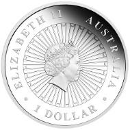 Australian Opal Series - Masked Owl 2014 1oz Silver Proof Coin. Australia/ 1 AUD/ 1oz Silver 99.9/ 31.135 g/ 36.6 mm/ Designer: Aleysha Howarth/ Mintage: 8,000.