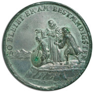German silver-plated bronze baptism medal, made by Christian Wermuth (1661-1739) in the 17th century. Very rare; finely patinated; fine specimen. Frank Sternberg collection. Estimate: 1.000-1.500 euros.