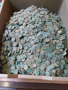 The Seaton Hoard after light conservation. © The Trustees of the British Museum.