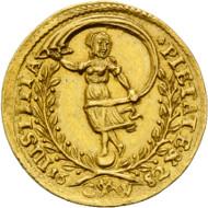 Los 1962: Schleswig-Holstein, Christian V. von Dänemark, Dukat 1682 CW, Glückstadt. Schätzpreis: 30.000,- EUR.