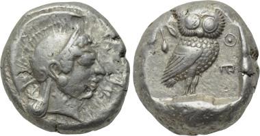 ATTICA. Athen. Tetradrachme (Circa 500-480 v. Chr.). Lot 128.