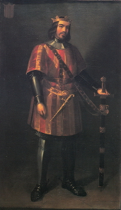 Manuel Aguirre y Monsalbe, fictitious portrait of Ferdinand I of Aragón made in the 19th cent. Source: Wikicommons.