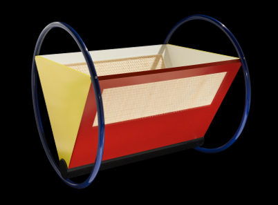 Cradle in the Bauhaus style. Photo: The Trustees of the British Museum.