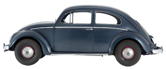 1953 Volkswagen Beetle Export Type 1. National Motor Museum.