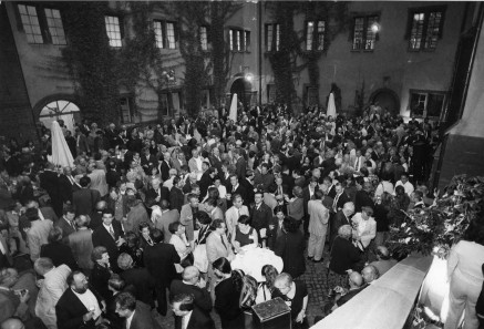 The big reception at the Märkisches Museum on the occasion of the XIIth International Numismatic Congress held at Berlin in 1997. Photo: Reinhard Saczewski.