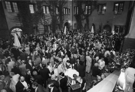 Der große Empfang im Märkischen Museum anlässlich des XII. Internationalen Numismatischen Kongresses in Berlin im Jahre 1997. Foto: Reinhard Saczewski.