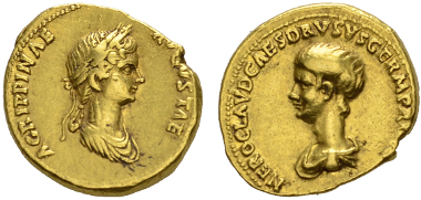 Claudius. Aureus, Rom, 50/54 n. Chr.