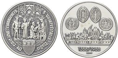 Köln, Medaille, 1988, Silber. Anlässlich der 600-Jahrfeier der Kölner Universität.