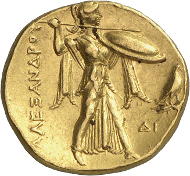 Lot 61: PTOLEMY, Satrap of Egypt 323-305. Gold stater, 312/1, Alexandria. Unpublished. Extremely fine. Estimate: 200,000,- CHF.