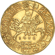 Lot 331: HRE. Sigismund, 1446-1496. 7 ducats 1486 (1563), Hall. Fr. 7. From the Arthur Graf Enzenberg Collection. Extremely fine. Estimate: 250,000,- CHF.