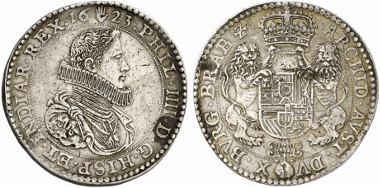Brabant. Philipp IV of Spain, 1621-1665. Double ducaton 1623, Antwerp. From auction sale Künker 223 (2013), 4.