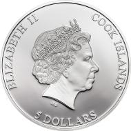 Cook Islands/ 5 Dollar/ 1 oz Silber .925/ 50 mm/ Auflage: 1744.