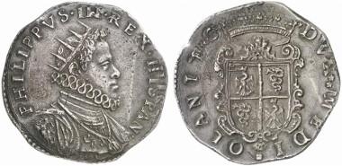 Milan. Philipp III of Spain, 1598-1621. Ducatone 1602. From auction sale Künker 206 (2012), 3058.