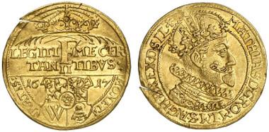 Breslau. Ducat 1617 on Archduke Ferdinand being crowned Bohemian king. From auction sale Künker 171 (2010), 5684.