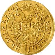 54: Leopold I. 5 Dukaten 1676 Prag. Rufpreis: 20.000 Euro.