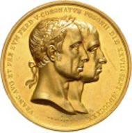 299: Franz I. und Ferdinand V. 15 Dukaten 1830 a. d. Krönung in Pressburg. Rufpreis: 15.000 Euro.