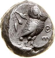 686: Athen Tetradrachme 500-480 v. Chr. Avers von überdurchschnittlicher Qualität. Rufpreis: 5.000 Euro.