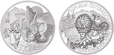 Austria/ 10 Euro/ Silver .925/ 17.3 g/ 32 mm/ Designer: Herbert Wähner/ competition winner: 2b-Klasse Neue Mittelschule Rattenberg.