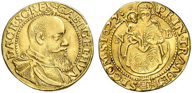 Gabriel Bethlen, Prince of Transylvania, 1613-1629. Ducat 1622, Nagybanya. Künker 239 (2013), 5483.