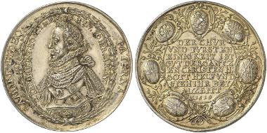 Frankfurt. Medal on Ferdinand II being elected German emperor. Förschner 48. From auction sale Künker 242 (2013), 3508.
