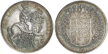 Saxony. John George I. Silver medal, 1619. Merseb. Coll. 902. From auction sale Künker 242 (2013), 3613.