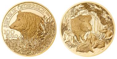 Austria/ 100 Euro/ Gold .986/ 30 mm/ Designer: Thomas Pesendorfer (obverse), Helmut Andexlinger (reverse)/ Mintage: 30,000.