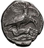 Sicily. Akragas. c. 408-406 BC. Tetradrachm, 16.32g. (h). Seltman, NC 1948, p. 3, no. 6. Kraay and Hirmer, pl. 61, 178. Rizzo, pl. II, 1. Boston 232. SNG Lloyd 818. De Hirsch Coll. 288. De Luynes Coll. 859 (all from the same pair of dies as our coin). VF/About EF. Estimate: US$125000.
